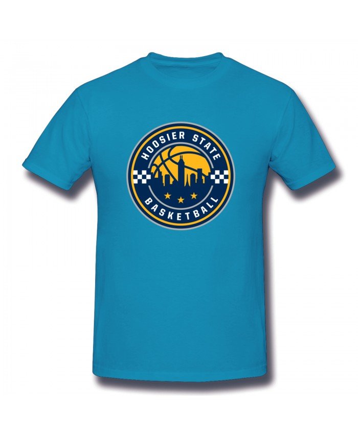 2019 Indiana Pacers Men's Basic Short Sleeve T-Shirt Indiana Pacers Alternate Logo Spider Baby Blue