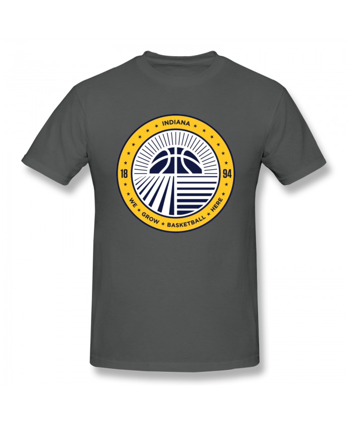 Basketball Court Layout Men's Basic Short Sleeve T-Shirt Indiana Pacers IND Deep Heather