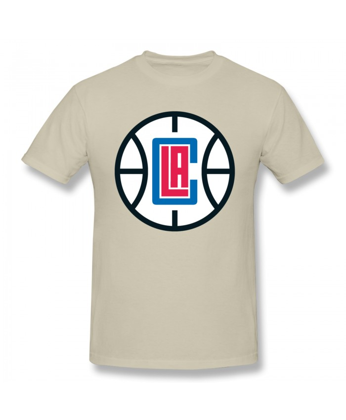 Clippers Nba Men's Basic Short Sleeve T-Shirt Los Angeles Clippers LAC Natural
