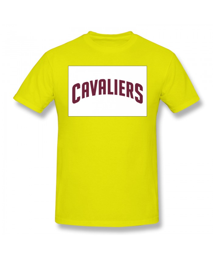 Cuse Basketball Men's Basic Short Sleeve T-Shirt Cleveland Cavaliers CLE Yellow