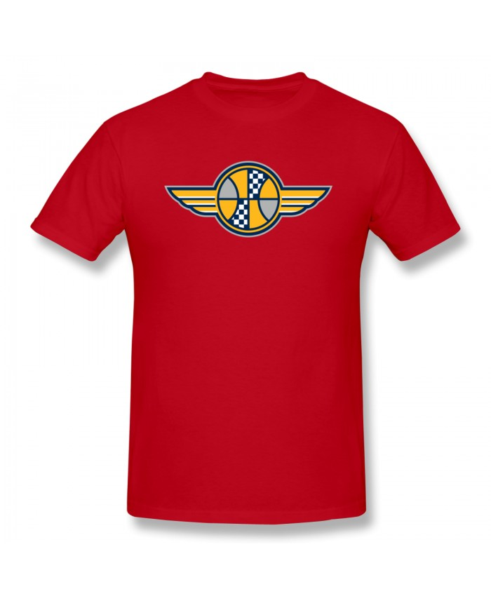 Houston Rockets Indiana Pacers Men's Basic Short Sleeve T-Shirt Indiana Pacers IND Red