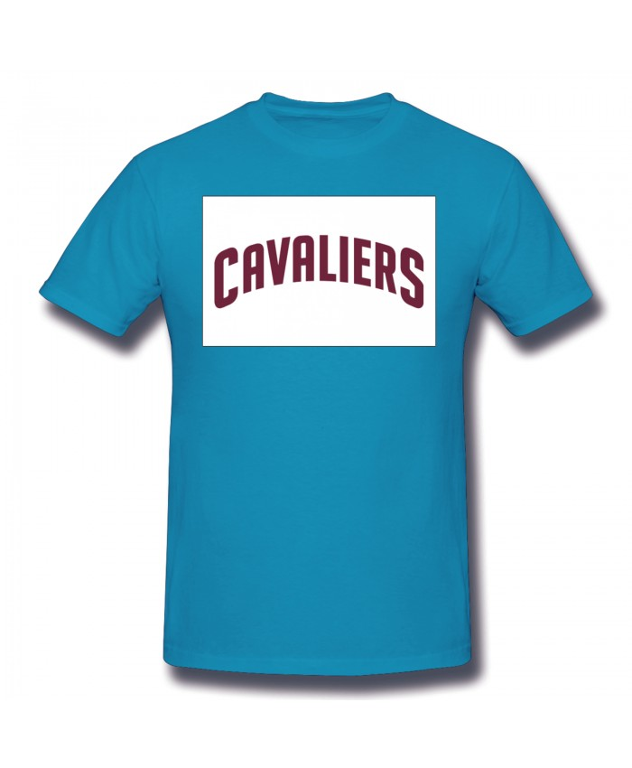 Indiana Basketball Men's Basic Short Sleeve T-Shirt Cleveland Cavaliers CLE Spider Baby Blue