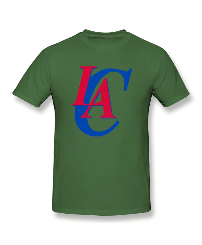 La Clippers Tonight Men's Basic Short Sleeve T-Shirt Los Angeles Clippers LAC Moss Green