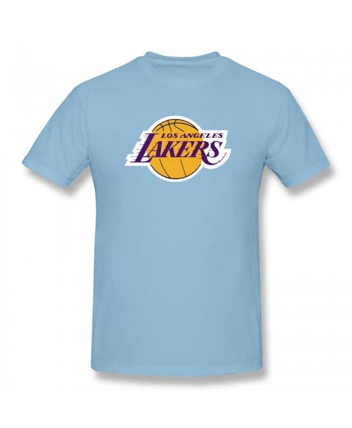 Nba Clippers Jersey Men's Basic Short Sleeve T-Shirt Los Angeles Lakers LAL Sky Blue