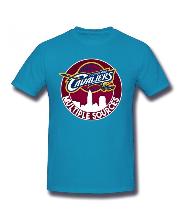 Pitino Men's Basic Short Sleeve T-Shirt Cleveland Cavaliers CLE Spider Baby Blue