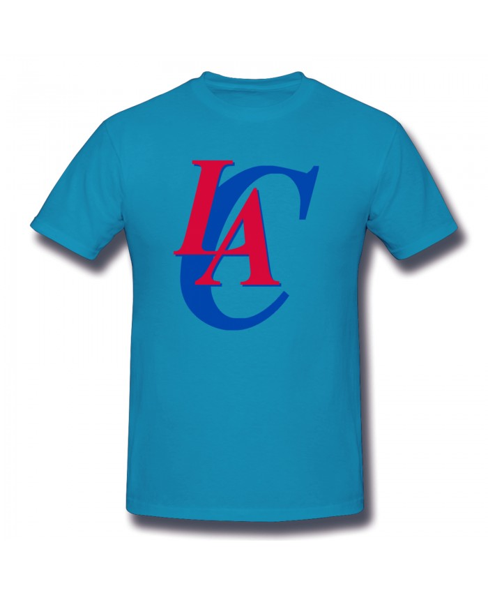 Rutgers Women'S Basketball Men's Basic Short Sleeve T-Shirt Los Angeles Clippers LAC Spider Baby Blue