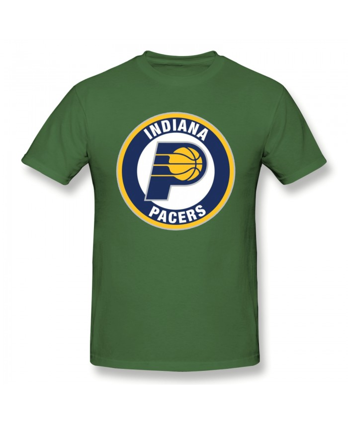 Steep Game Men's Basic Short Sleeve T-Shirt Indiana Pacers IND Moss Green