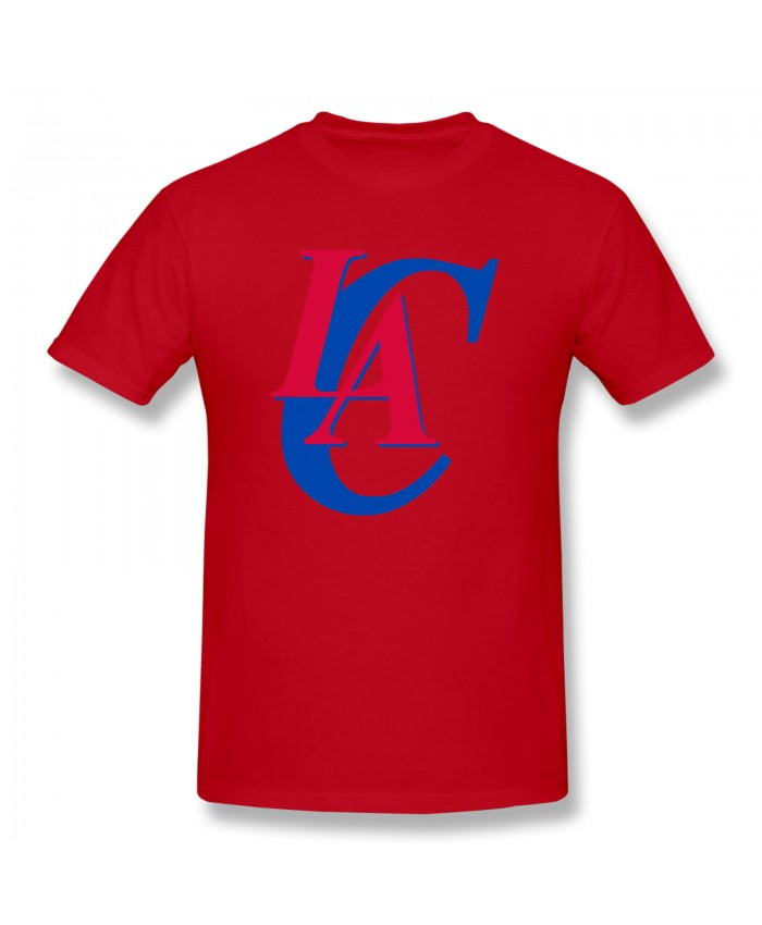 The Lakers And The Clippers Men's Basic Short Sleeve T-Shirt Los Angeles Clippers LAC Red